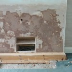 Fireplace Removed and Plastered