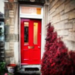 Painting external front door Red