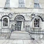 Edinburgh New town watercolour and ink