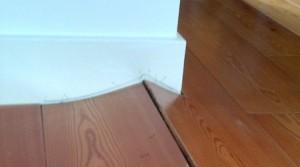 Warped floorboards