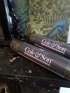 Cole & Son Wallpaper on mantlepiece