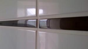 Detail of glass trim tile
