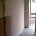 Wall completed with finishing plaster