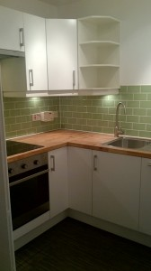Ikea Kitchen Corner Units with tiles