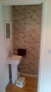 WC wallpaper - Travel by B&Q