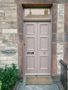 Front door finished with Dulux weathersheild - Gallant Grey