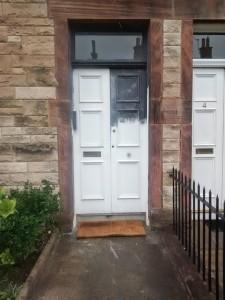 Undercoat front door