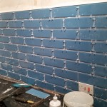 Brick effect diamante teal tiles